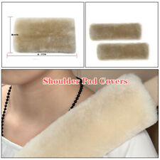 Pearl Color Car Belts Covers, 2 Pack Sheepskin Seatbelt Shoulder Cushion Covers