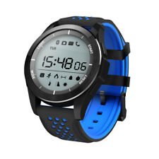 Montre Connectée Bleue Smartwatch Bracelet étanche Bluetooth Android Apple Sport