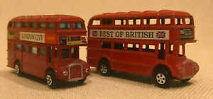 2 x Diecast London Buses 60's Style. 1 Has Pencil Sharpener Inside. Routemasters