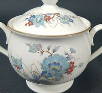 Noritake Vintage Bleufleur Covered Sugar Bowl with Lid Versatone Discontinued