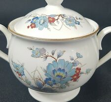 Noritake Vintage Bleufleur Covered Sugar Bowl with Lid Versatone Discontinued