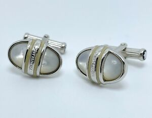 Montblanc Solitaire Mother of Pearl Cufflinks