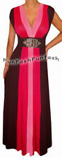 BC2 FUNFASH PINK BLACK COLOR BLOCK LONG MAXI COCKTAIL DRESS Plus Size 1X 18 20
