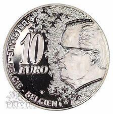 Belgique / 10 euros 2002 / Cinquantenaire de la liaison Nord-Midi / argent