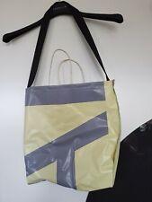 Shopper/ Tasche LKW Plane, neu,  32x32 cm - Hellgelb-grau