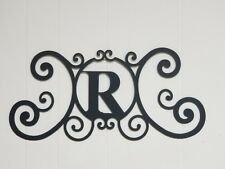 Iron Letter R Door Monogram Wall Decoration Plaque Metal Art Initial 2mm thick