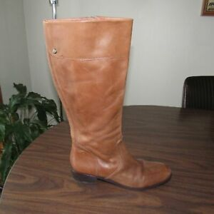 NWOB Wm sz 11M CORSO COMO Knee-high Riding Boot in Soft pliable Brown Leather