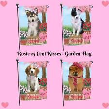 Rosie 25 Cent Kisses Dog Cat Garden Flag, Pet Photo Lovers Gift Home Décor