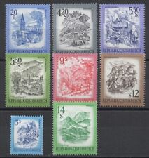 Austria 1978-1983 Sc# 1100-1109 Mint MNH city chapel fortress Carinthia stamps
