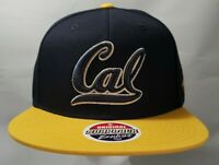 Cal State University NCAA Flat Bill Snapback Blue/Gold Zephyr Cap Hat New