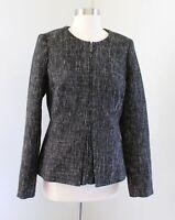 The Limited Scandal Collection Gray Black Tweed Peplum Blazer Jacket Size M