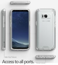 Clear for Galaxy S8 Plus Poetic Slim Fit Anti-slip Side Grip Bumper Case