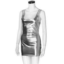 Silver Sexy UPVC Dress & Thong - Latex PVC Club Wear Clothing - Womens Party