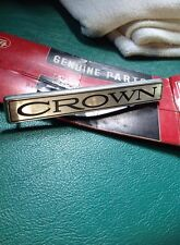 Toyota CROWN MS RS EMBLEM BADGE NOS JAPAN.