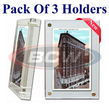 3 BCW 1 Inch Acrylic Postcard Holder Card Case 4x6 Photos  Stamps Display Frame