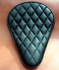 Motorradsattel Bobber Seat, Rauten,schwarz,mit Keder,flach, ca. 25 cm breit