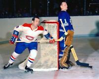 Dick Duff, Johnny Bower Montreal Canadiens Toronto Maple Leafs 8x10 Photo