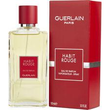 HABIT ROUGE By Guerlain  Eau de Toilette Spray  3.3 oz For Men Brand New
