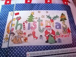 CROSS STITCH CHART WELCOME CHRISTMAS MOTIF  SAMPLER  CHART ONLY