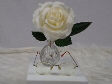 Polo Ralph Lauren 145  Brown Metal HALF RIM Designer Eyeglass Frames Glasses
