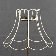 "14"" Scollop Top & Bottom Vintage Retro Wire Lampshade Lamp Shade Frame"