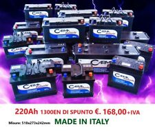 BATTERIA CAMION TRATTORE etc... MADE IN ITALY 220AH SPUNTO 1300!!