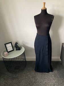 BNWT Zara High Waisted Navy Maxi skirt Size L (UK 12-14)
