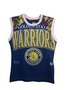 Golden State Warriors Logo 7 Vintage Custom Tank T-Shirt - Women's XS/Small