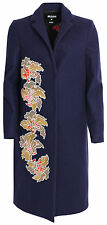 MSGM abrigo lana 2141mdc40x azul lentejuelas estampadas GR it 40 d 34/XS * nuevo
