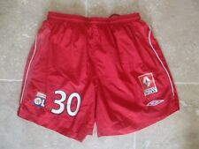 Short porté LYON OLYMPIQUE LYONNAIS Vercoutre n°30 rouge Ligue 1 football Umbro