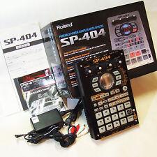 RARE!! Roland SP-404 Sampler Black Version!! w/Power Supply & Box & Accessories