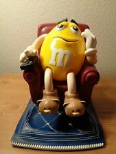 "M&M ""couch potato"" yellow M in Lazy Boy w/TV remote candy dispenser"