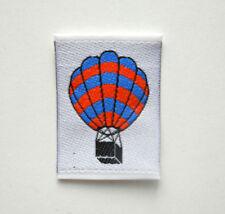 Applikation Ballon zum Aufnähen Stoff mit eingewebtem Muster 3,2 x 4,5 cm