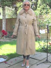 WOMENS L XL Shearling Lambskin Sheepskin Lamb Coat Jacket Ladies D3214