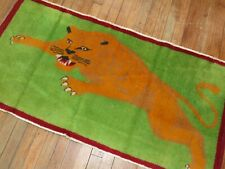 Vintage Turkish Cougar Rug Size 2'3''x4 39;6''
