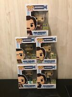 Funko Pop Anchorman Set Of 5 Sdcc Exclusive Ron With Baxter Brick Brian