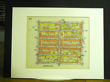 Brooklyn Map 1929 Matted Palmetto Wilson Bleecker Irving Knickerbocker Grove