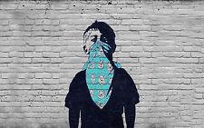 MASSIVE BANKSY Graffiti Street Art Wall SATIN PHOTO Print POSTER A0