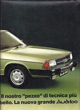 Brochure Depliant Audi 100 1976 Italiano 8 pagine