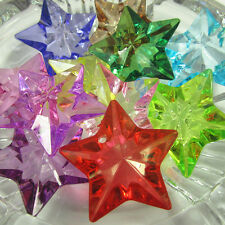 New 48*48mm 48pcs Acrylic Star Pendant Diamond Chunky Beads for Jewelry Necklace