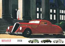 Renault Elegance 1936 Vintage Car Poster Prints Picture A1