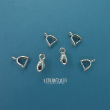 6PC Sterling Silver 8.8mm Pinch Clasp Connector Bail for Pendant/Earring #33472