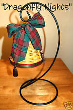 Longaberger Noel Bell Basket, Tie & Wrought Iron Stand