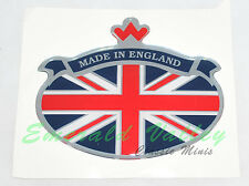 Classic Mini New Stick On Made In England Union Jack Badge
