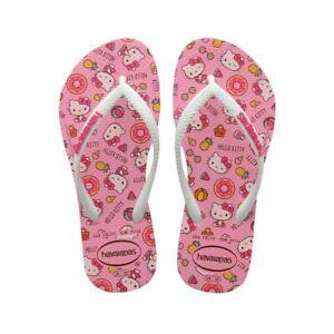 Infradito bambina Havaianas Hello Kitty Rosa Macaron 4145748-5217 Rosa-Bianco