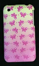 Iphone 3GS Case Pink Butterflies Green White