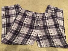 Cabela's Womens Size 2XL  Lounge PJ Pants Flannel lavendar Plaid Soft Comfort