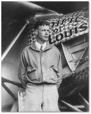Charles Lindbergh with Spirit of St. Louis - Remastered 8 x 10 Photo - Historic