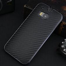 Premium Nuovo Di Lusso in fibra di carbonio in pelle coperchio posteriore Custodia rigida per HTC One m8