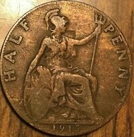 1915 UK GREAT BRITAIN HALF PENNY